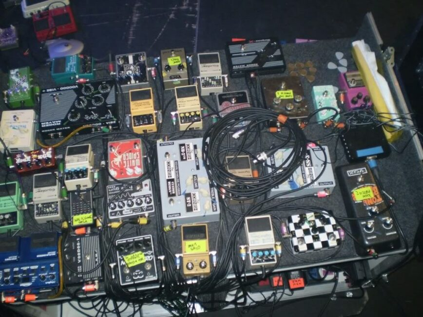 The brutal beauty of Kevin Shields' pedalboard