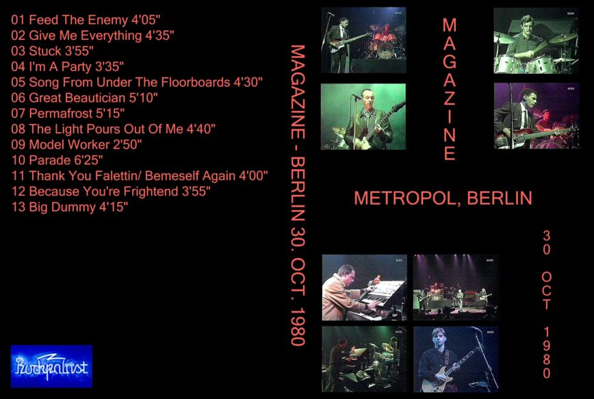 Magazine Live on <i>Rockpalast</i> – October 1980
